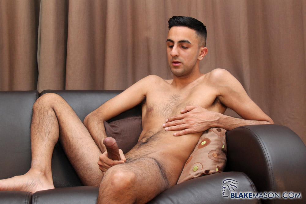 BlakeMason-Jamal-Jones-Solo-Jack-Off-09 Amateur Skinny Young Hairy Arab Jerks His Hung Arab Cock