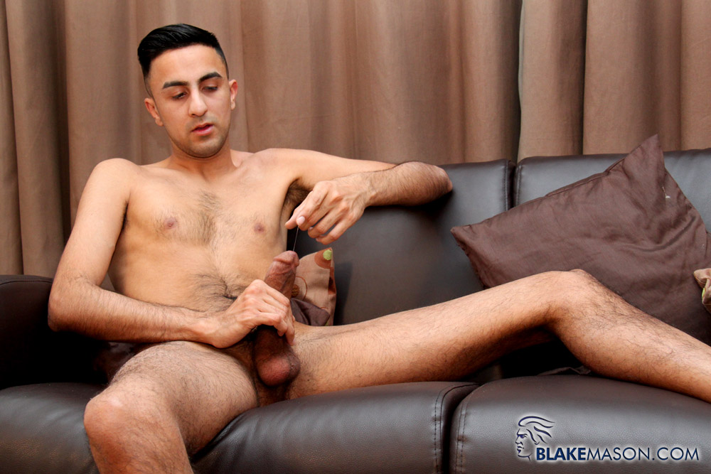 Slim guy solo masturbation