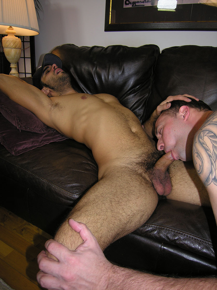 Hairy Straight Middle Eastern Guy Gets A Blowjob From A Gay Guy