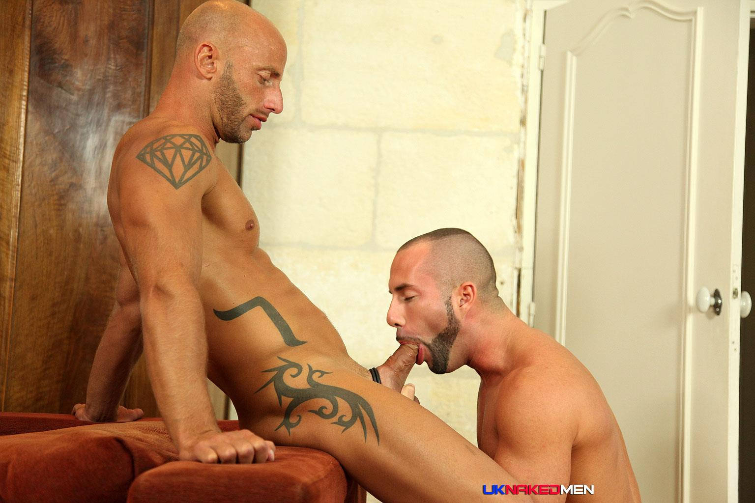 Hot guys gets throat fucked by thick cock