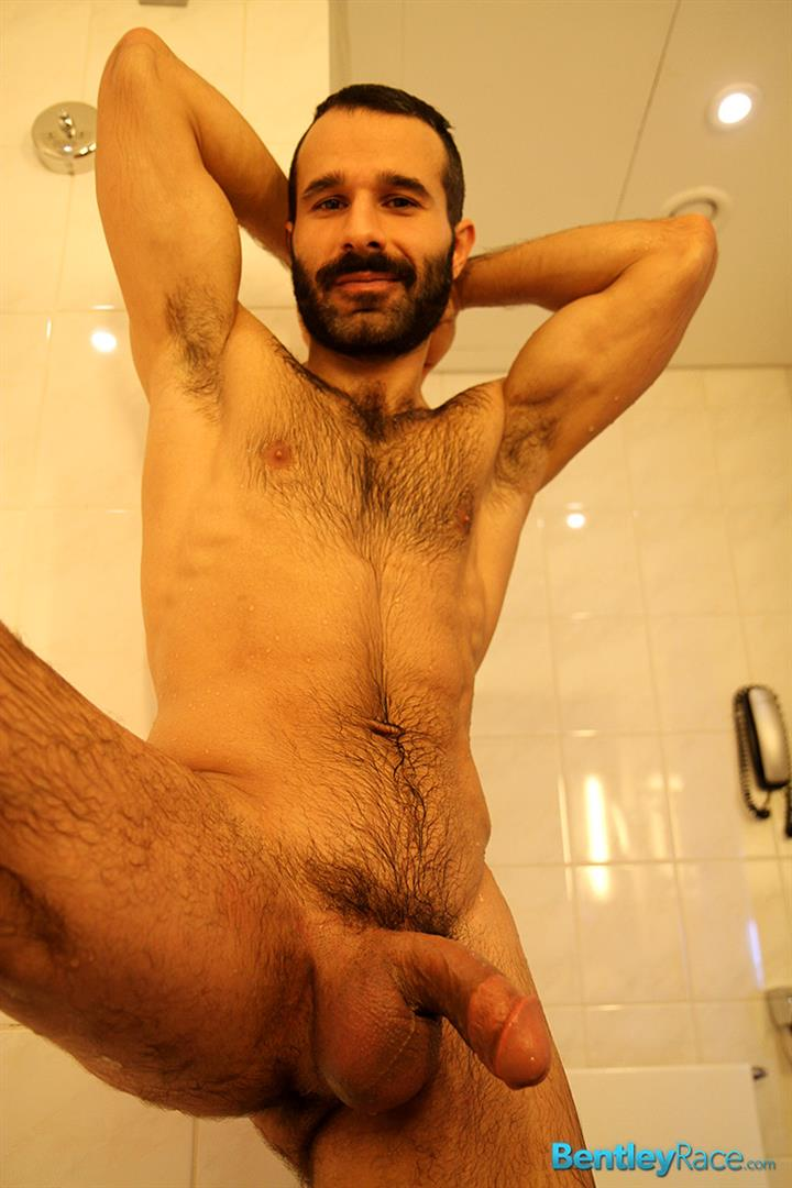 Hairy Turkish Guy Aybars Jerking His Thick Cock In The Shower