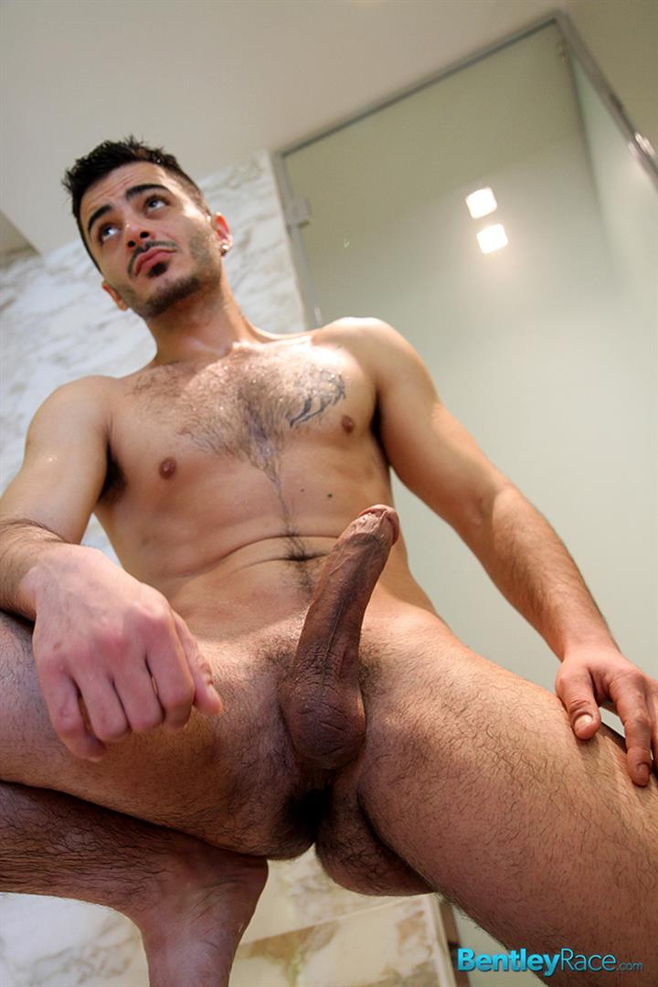 Amateur gay strokes his red dick
