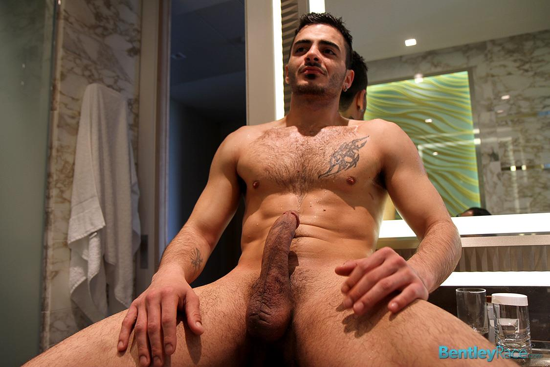 Hot guy jerking big erect cock